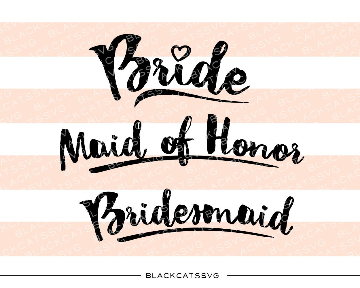Bride Maid of Honor Bridesmaid SVG file Cutting File Clipart in Svg, Eps,  Dxf, Png for Cricut & Silhouette.