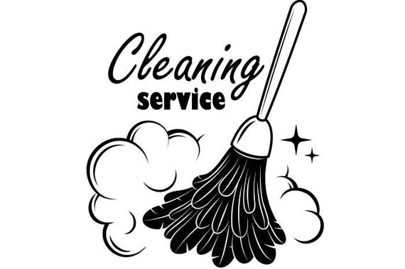 Cleaning Logo #1 Maid Service Housekeeper Housekeeping Clean House Room  .SVG .EPS .PNG Digital Clipart Vector Cricut Cutting Download File.
