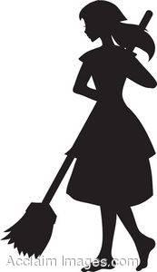 Maid clipart silhouette.