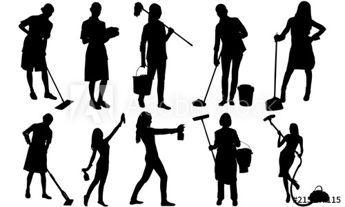 Cleaning Lady Silhouette.