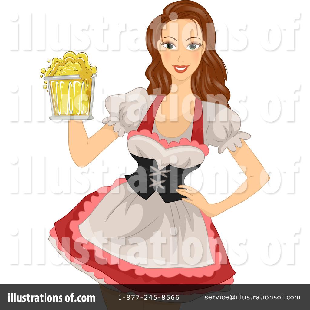 Beer Maiden Clipart #1163423.
