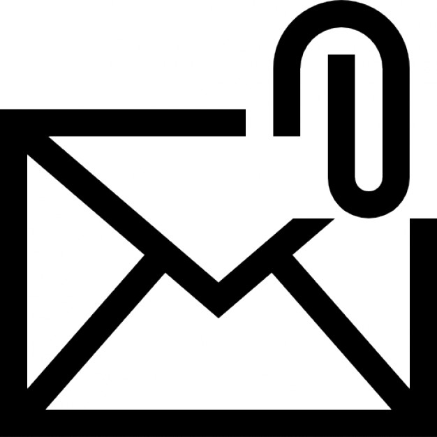 Email attachment interface symbol Icons.