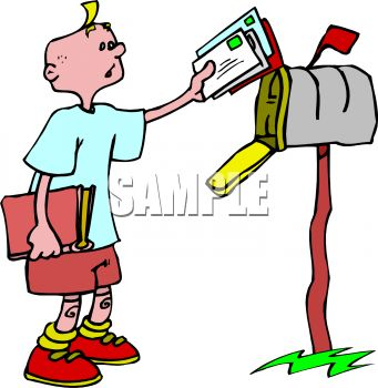 Mail Boy Clipart.
