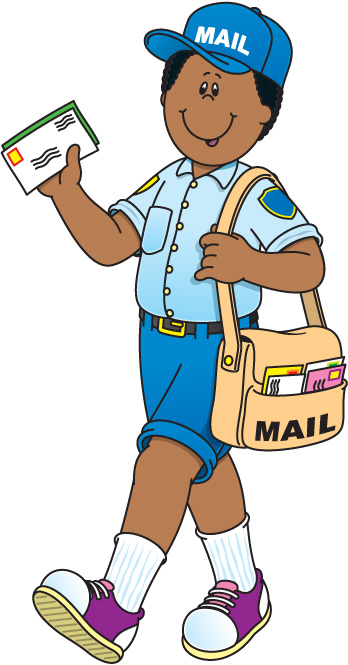 Mail carrier clipart free.