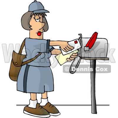 Post Office Worker Clip Art.