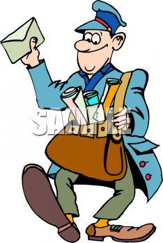 Cartoon Mail Carrier.