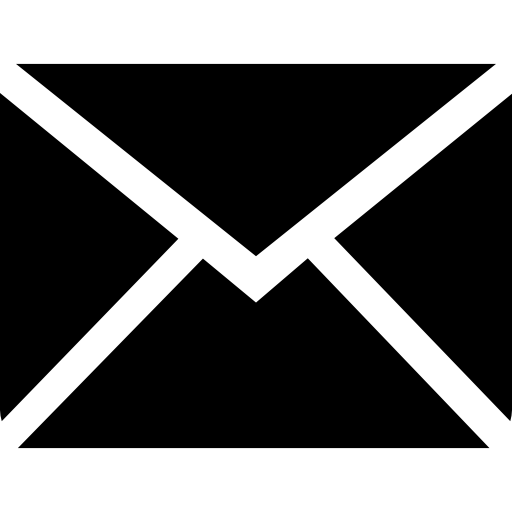 New email black back envelope symbol of interface Icons.