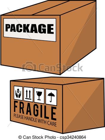 Package cartoon illustration.