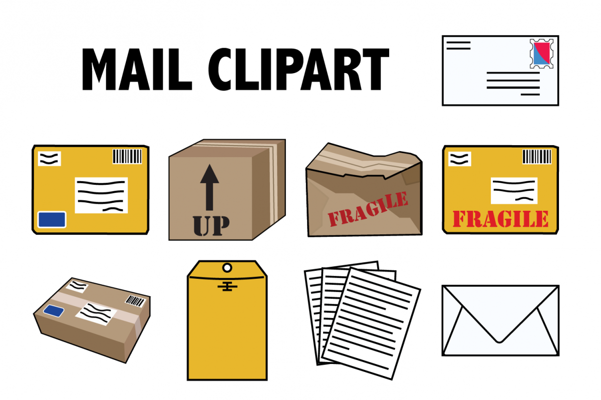 Mail and Packages Clipart.