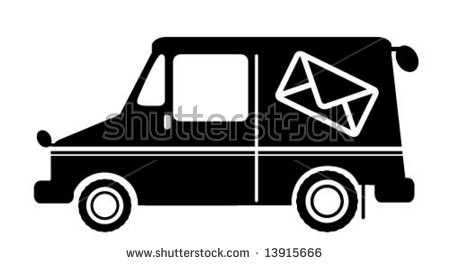 Mail Truck Stock Photos, Royalty.