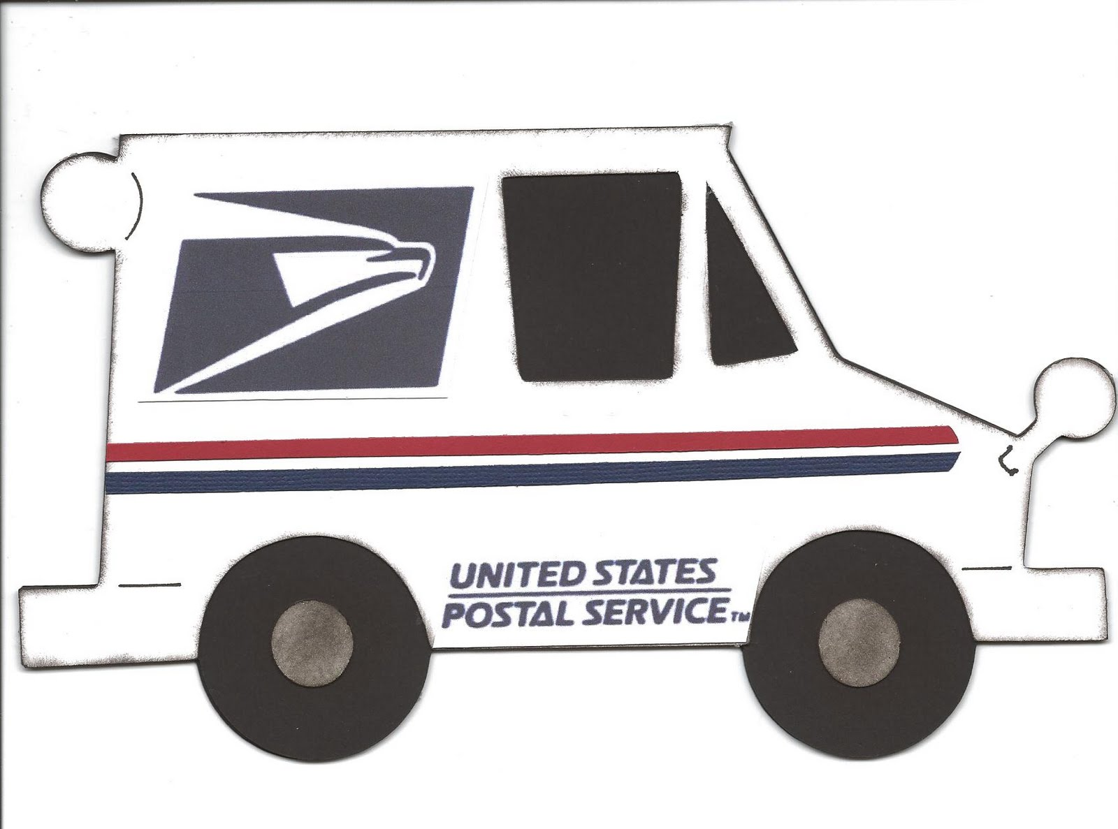 Mail Truck Clipart.