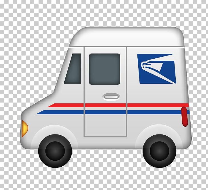 Compact van Emoji Car Truck, Post Office PNG clipart.