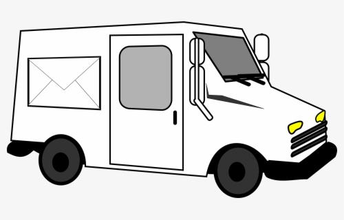 Free Mail Truck Clip Art with No Background.