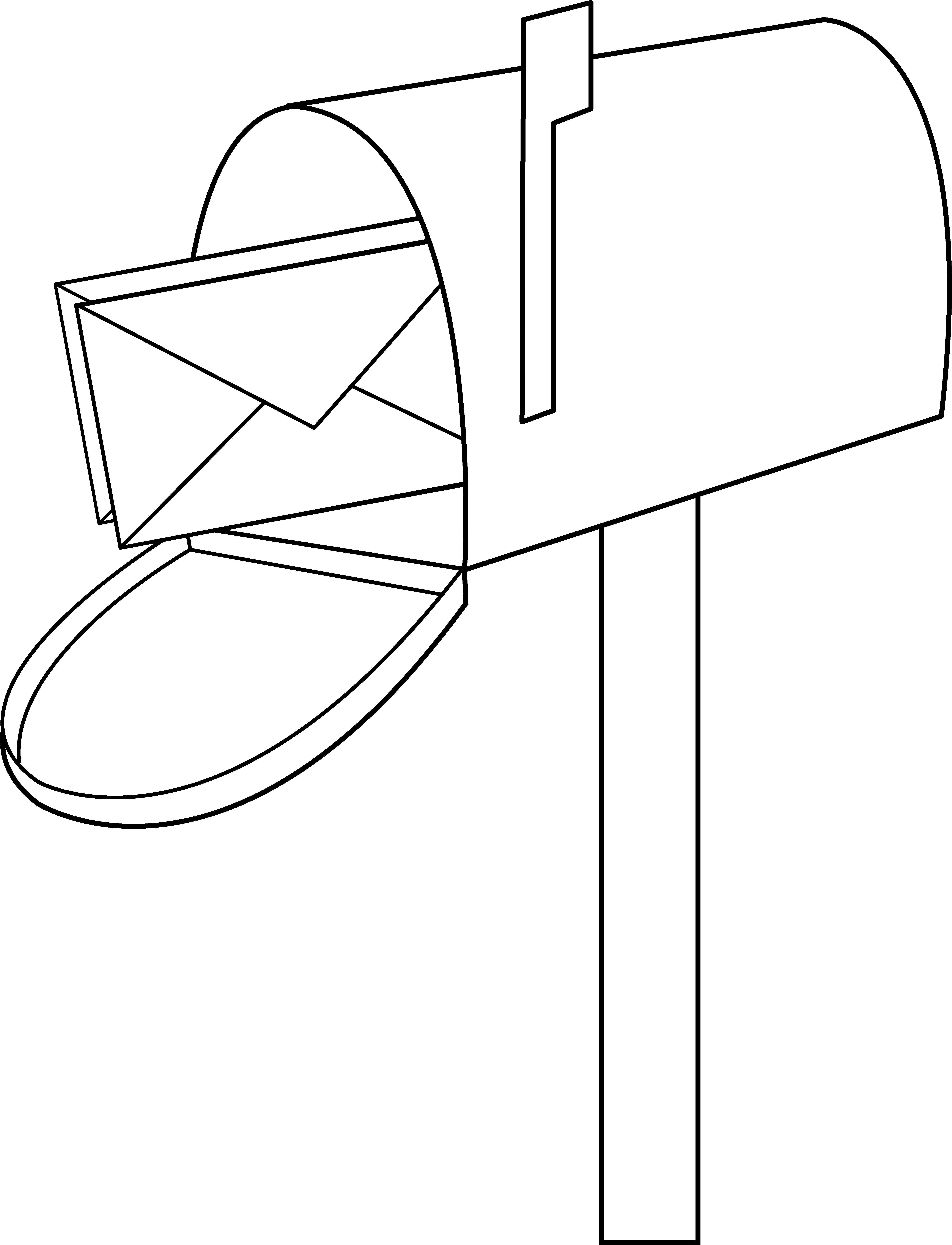 Mailbox 8 pics of mail cartoon coloring page mail clip art.