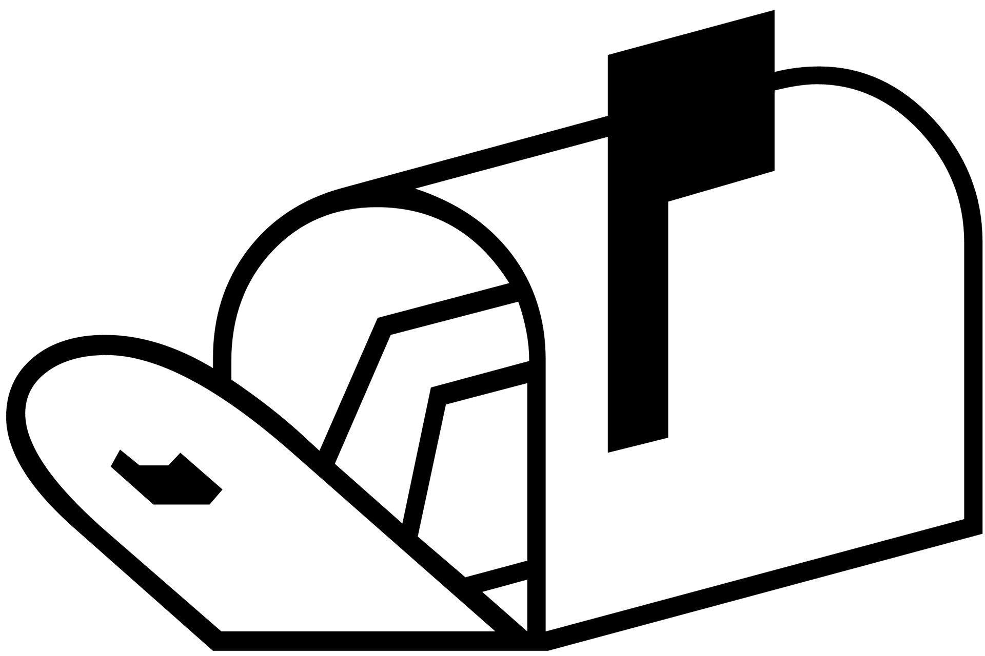 Mailbox Clipart Black And White.