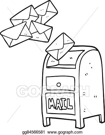Mailbox clipart black and white 5 » Clipart Station.