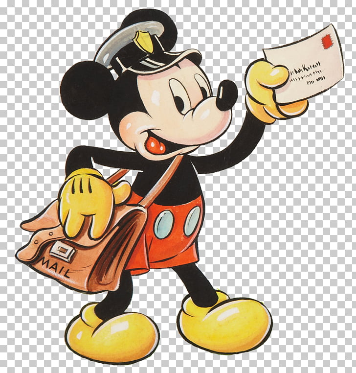 Mickey Mouse Disney Mail Email , Mailman s PNG clipart.