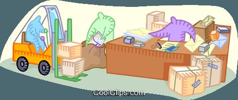 office mailroom Royalty Free Vector Clip Art illustration.