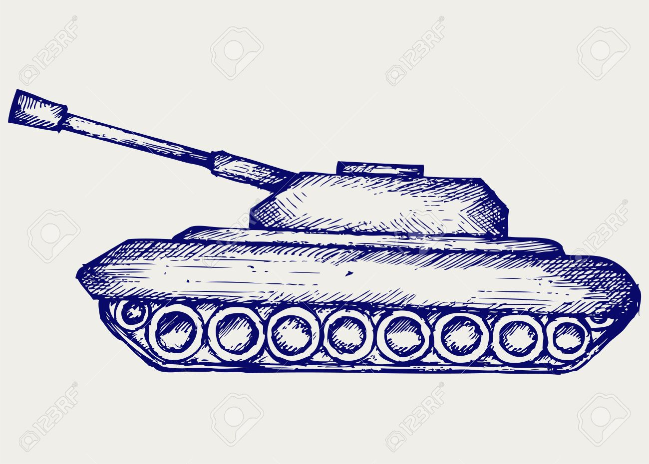 Main Battle Tank. Doodle Style Royalty Free Cliparts, Vectors, And.