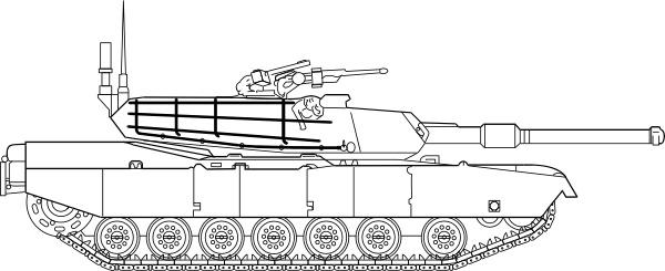 M1 Abrams Main Battle Tank clip art Free vector in Open office.