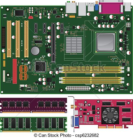 Mainboard Vector Clip Art EPS Images. 241 Mainboard clipart vector.