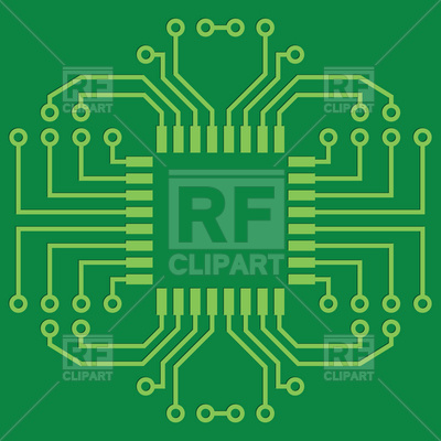 Printed Circuit Board or mainboard Vector Image #6786.