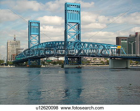 Pictures of Jacksonville, FL, Florida, Main Street Bridge spans.