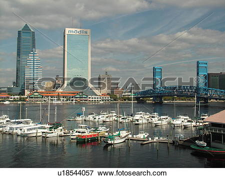 Picture of Jacksonville, FL, Florida, downtown skyline, Main.