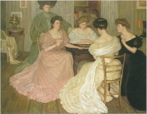 Ladies Playing Bridge Clipart.