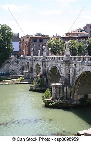 Stock Photographs of Rome Bridge.