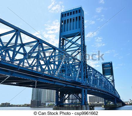 Stock Photo of Jacksonville's Main Street Bridge.