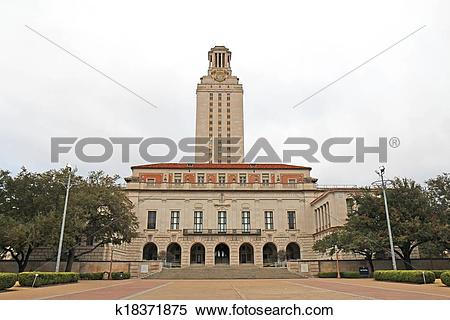 Stock Image of Main Building on the University of Texas at Austin.