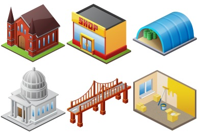 Buildings Icons.