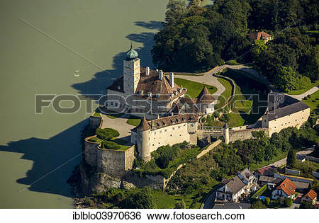 "Stock Images of ""Aerial view, Servite monastery Schloss Schonbuhel."