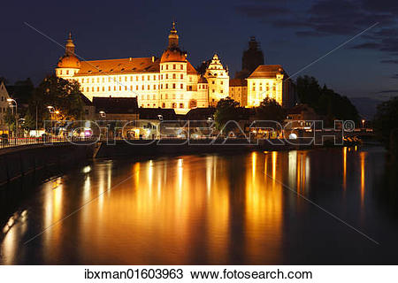 "Stock Photo of ""Schloss Neuburg castle, Neuburg an der Donau."