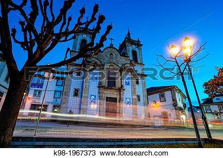 Stock Photo of Church of St. Peter, Main Church of Gouveia, XVII.