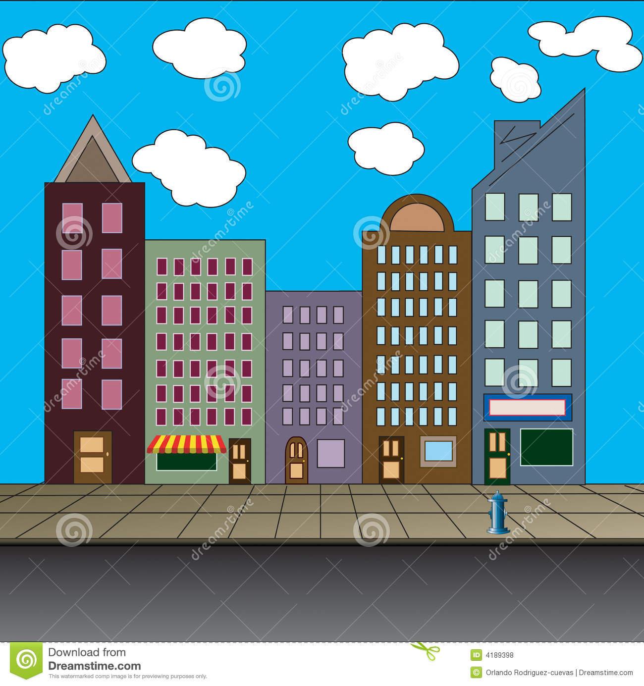 Showing post & media for Cartoon city clip art.