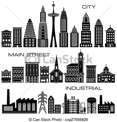 Vector Illustration of Buildings icon set.