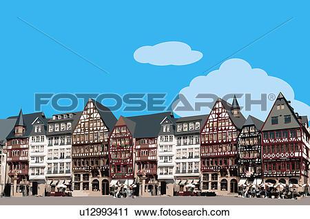 Clipart of France, Frankfurt.