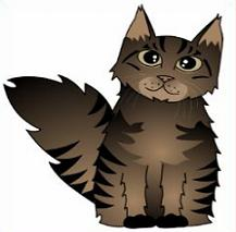 Free Maine Coon Cats Clipart.