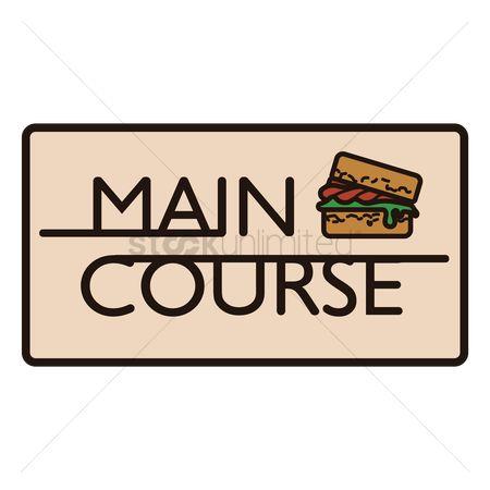 Free Main Course Stock Vectors.
