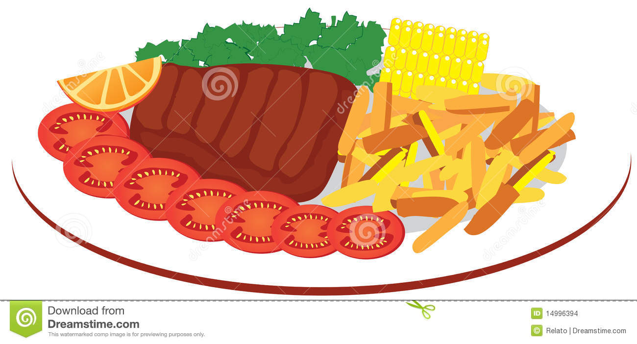 big plate of food clipart - Clipground