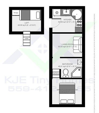 KJE Tiny Homes Layouts And Floor Plans