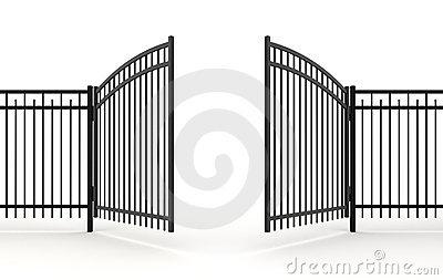 Open gate clipart.