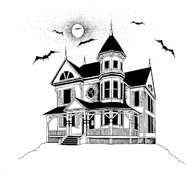 Pictures Of Halloween Haunted Houses.