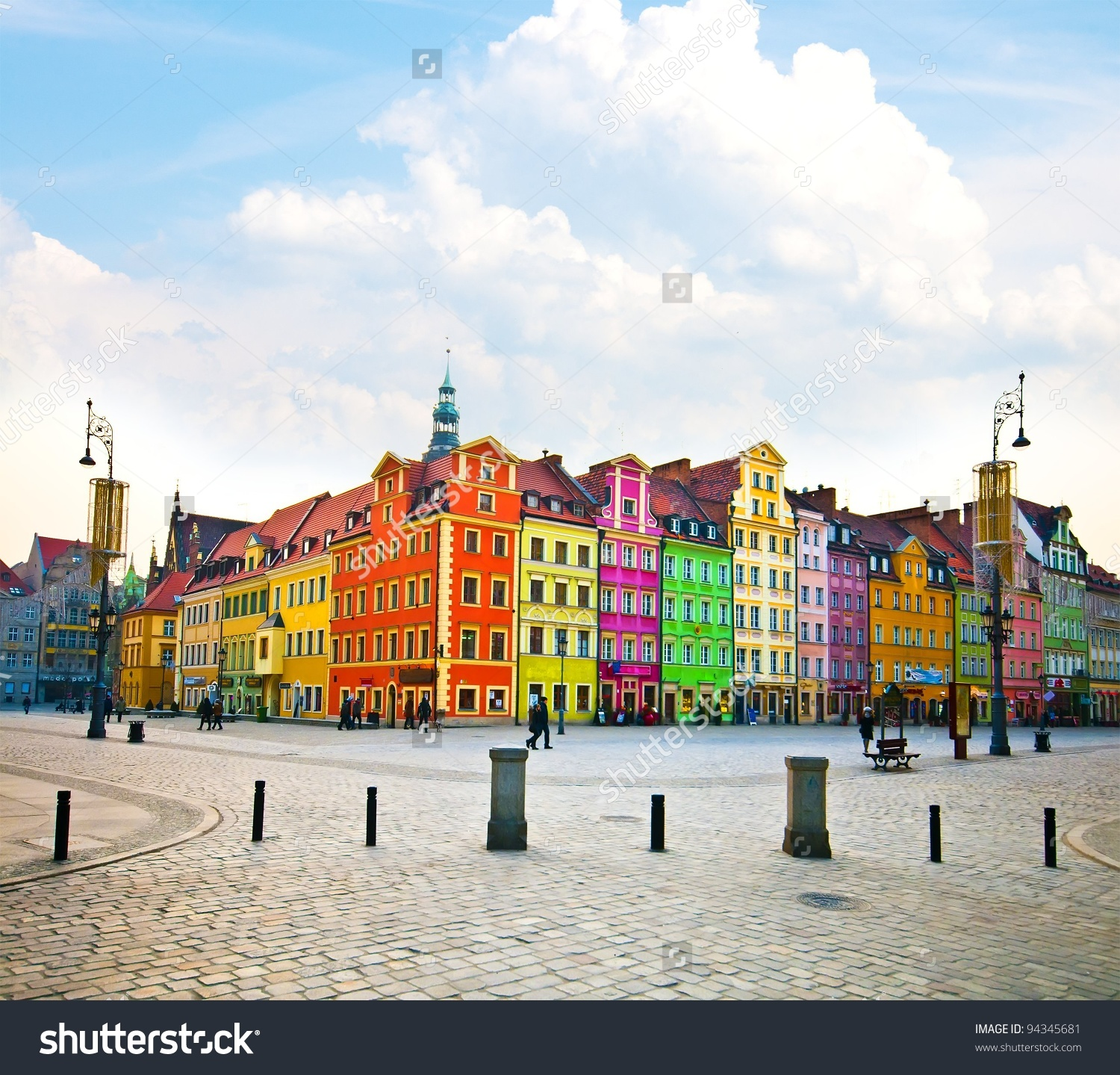 Wroclaw City Center Market Square Tenements Stock Photo 94345681.