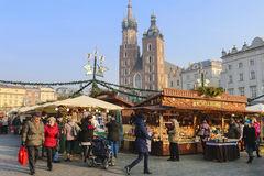 Annual Christmas Fair At The Main Market Square. Krakow, Poland.