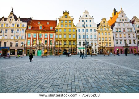 Market Square Tenements Wroclaw Poland Stock Photo 71435203.
