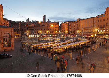 Stock Photography of Traditional Mercato Grande, historic craft.
