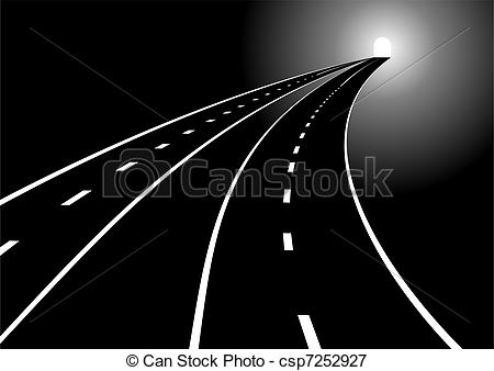 Vectors Illustration of Roads and tunnels.